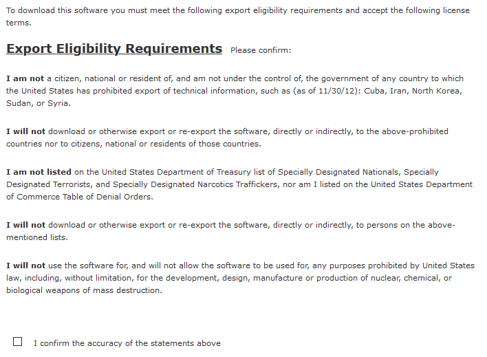 Export Controls on Dassault Systemes SolidWorks eDrawings Viewer